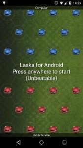Laska now has an unbeatable level, using a depth of 8