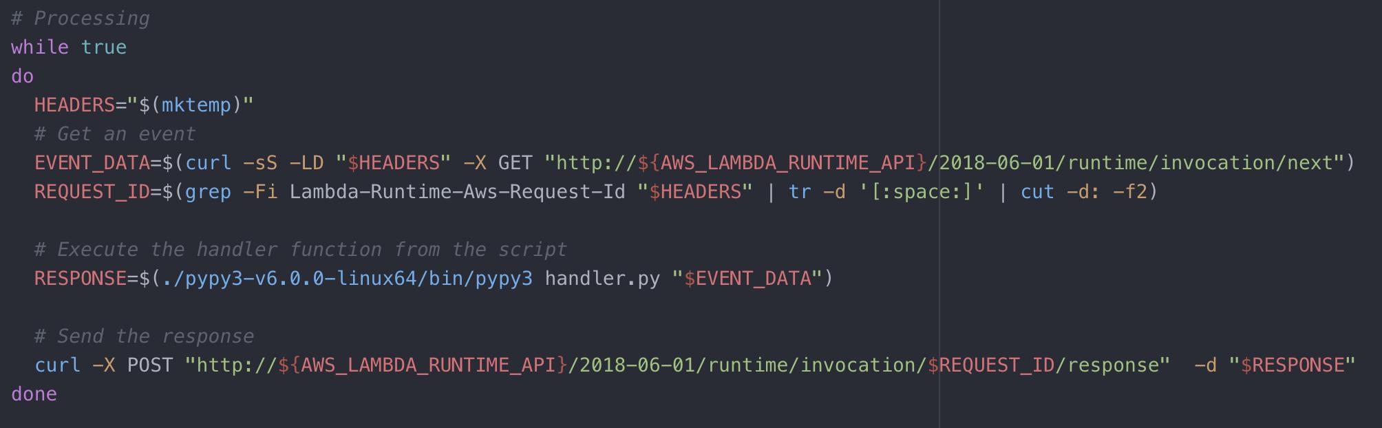 aws lambda runtime